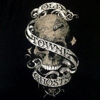 オールド・タウン・ゴースト スカル ブラック Tシャツ - レディース
