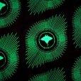 画像1: OSPREY SUNBURST ベルクロ ワッペン - 蓄光緑 (1)
